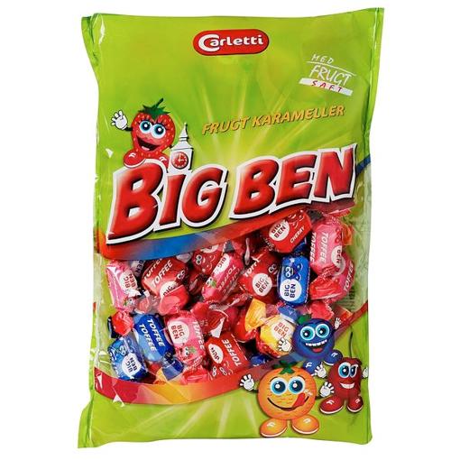 Billede af Carletti Big Ben Frugt Karameller 450 g.