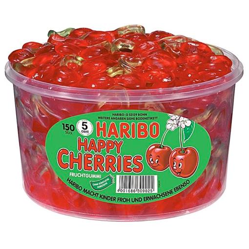 Billede af Haribo Happy Kirsebær 1200 g.
