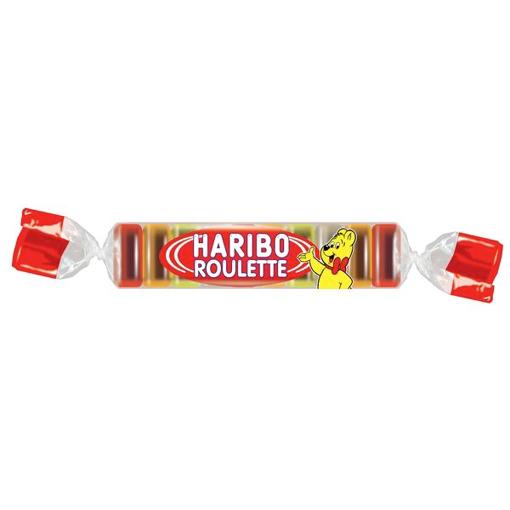 Billede af Haribo Roulette Frugt gummi-rulle 25 g.