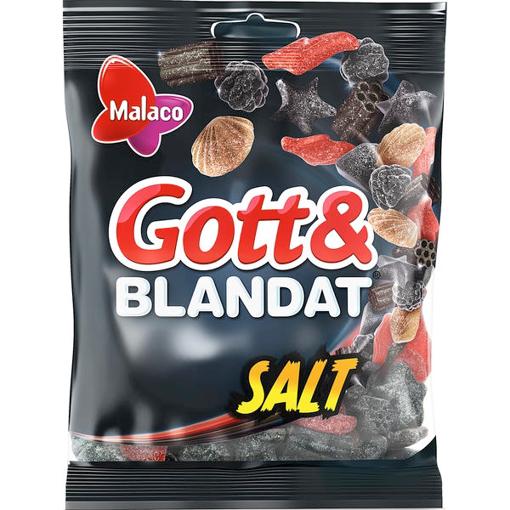Billede af Malaco Godt & Blandet, Salt 500 g.