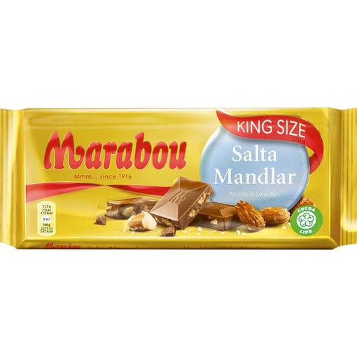 Billede af Marabou Mandel Salt 220 g.