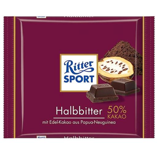 Billede af Ritter Sport Halbbitter 100 g.