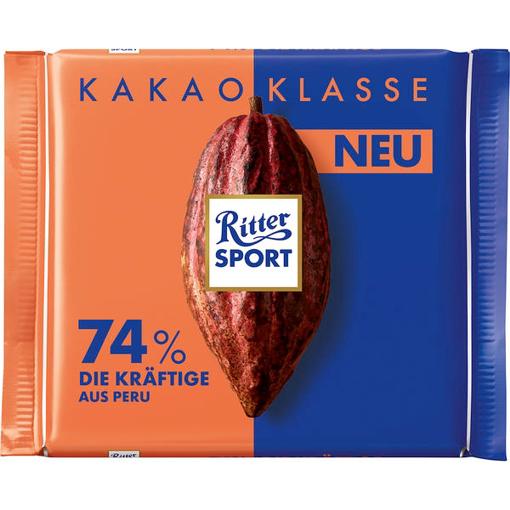 Billede af Ritter Sport Kakao Klasse 74% Die Kräftige aus Peru 100 g.