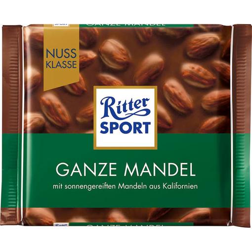 Billede af Ritter Sport Nuss-Klasse Ganze Mandel 100 g.
