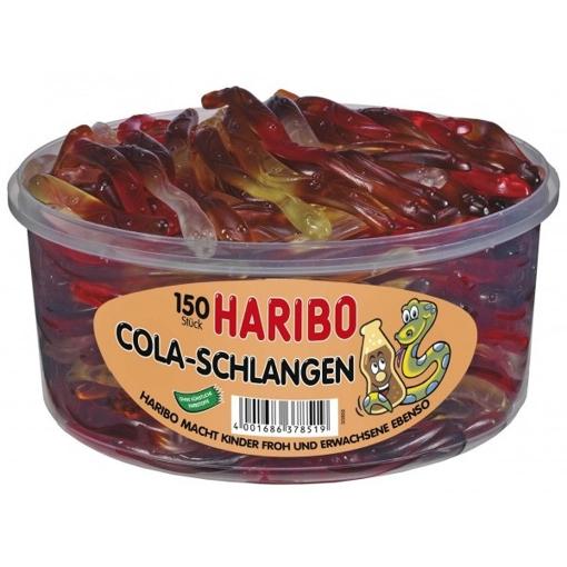 Billede af Haribo Cola- slanger 1050 g.