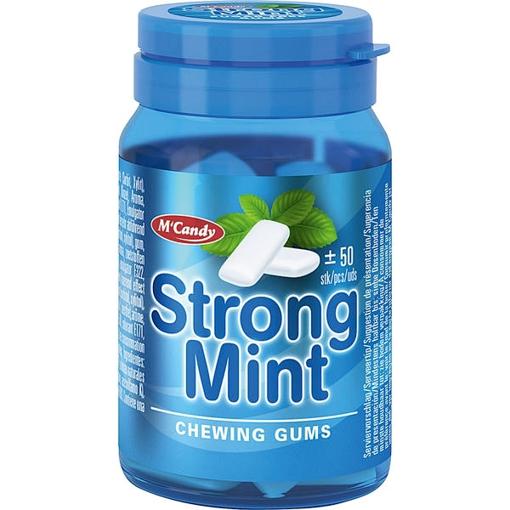 Billede af M'Candy Tyggegummi Stærk Mint 50 g.