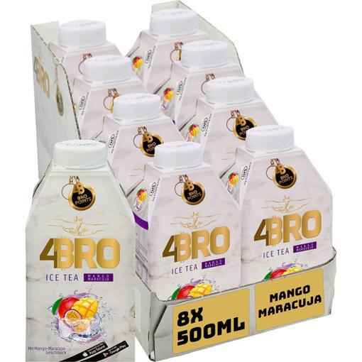 Billede af 4BRO Ice Tea Mango 8 x 0,5 l