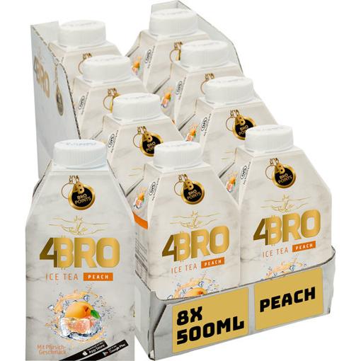 Billede af 4BRO Ice Tea Peach 8 x 0,5 l